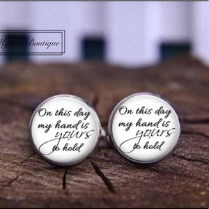Other - Bride to Groom Wedding Cuff Links